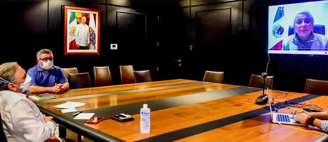En el seno de la Comisión Ejecutiva de Salud de la Conferencia Nacional de Gobernadores, el gobernador @AysaGonzalez participó en una reunión con la secretaria de Gobernación, @M_OlgaSCordero y funcionarios del gabinete federal para evaluar el Plan Nacional de Vacunación #Covid19