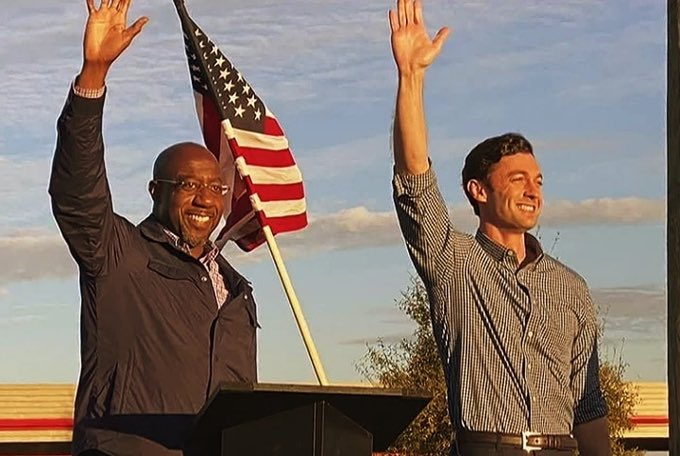 @maddow Agreed, we worked hard in Georgia to give Chuck the Majority Leader and make Moscow Mitch the Minority Leader by sending these 2 to the Senate. Chuck better not waste our votes.