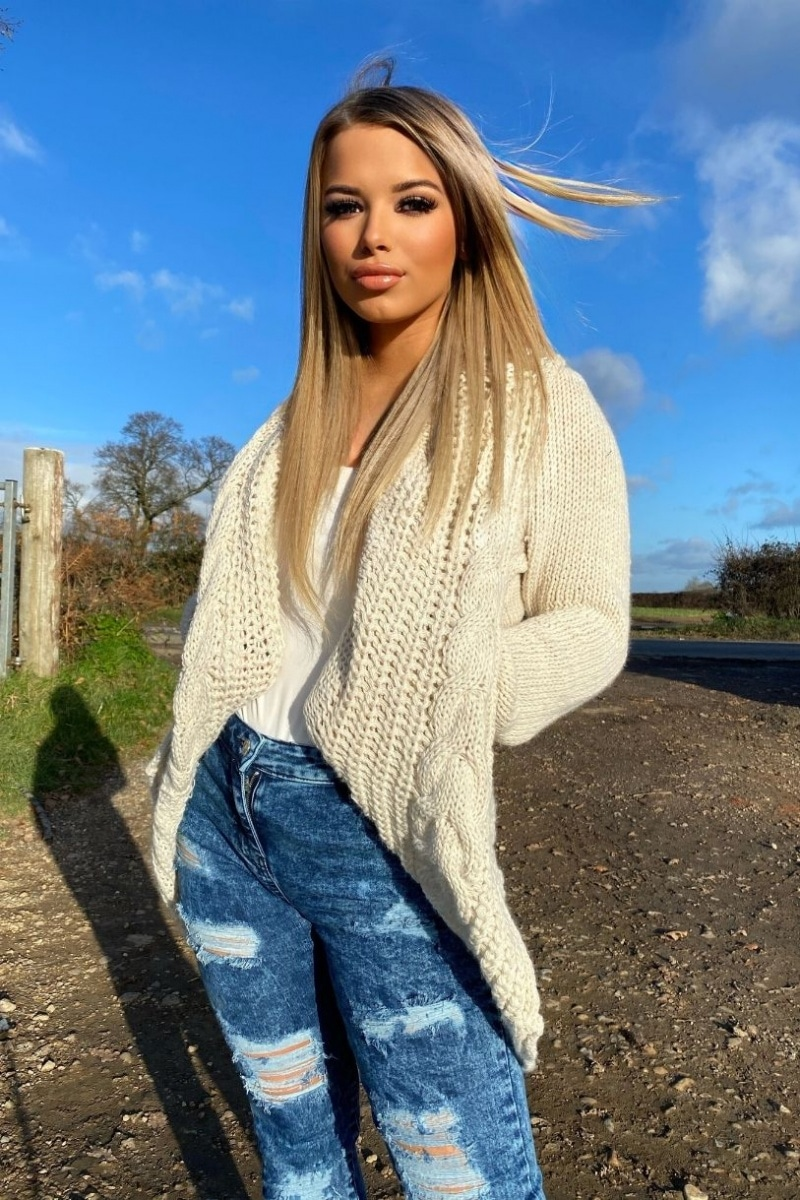 Beige Chunky Cable Knit Shawl Collar Longline Cardigan  #prettylittlething #selfridges #boohoo #beauty #love #beautiful #fashion #makeup #style #instagood #model #photography #like #photooftheday #instagram #art #follow #cute #girl #happy #picoftheday #me