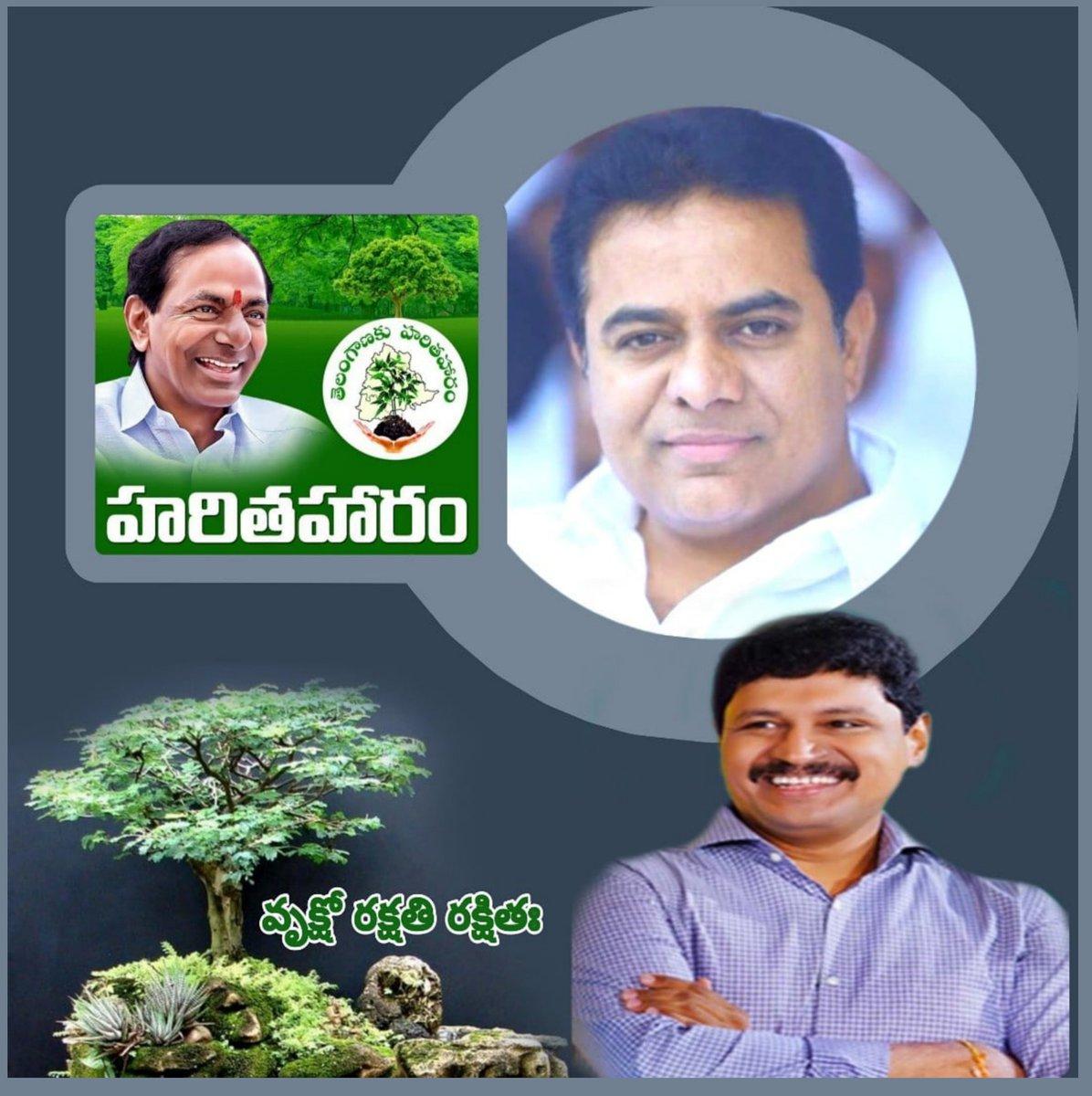 🌍 పుడమి పచ్చంగుండాలి 🍀 జై #KCR @KTRTRS #HarithaHaram @MPsantoshtrs  #GreenIndiaChallenge