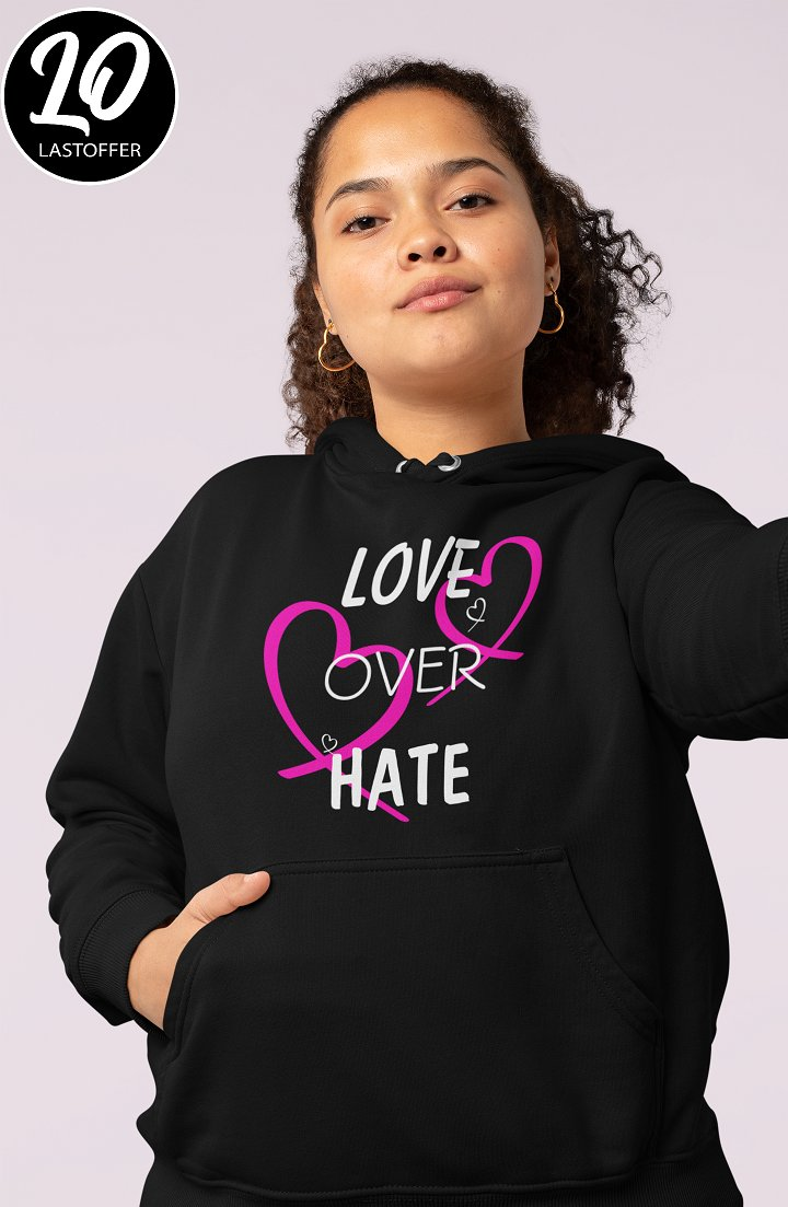 """Love Over Hate"" merch is available:  #loveoverhate #love #beautiful #happy #smile #cute #LoveIsInTheAir #selflove #Peace #motivation #quotes #loveyourself #family #happiness #inspiration #friends #amor #lovewins #loveislove #shirt"