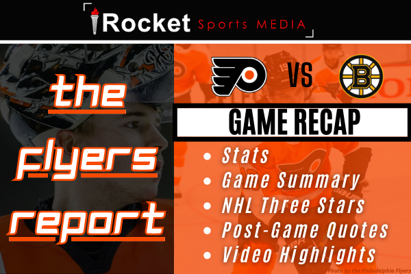 Flyers – Bruins: One Point Woes | GAME RECAP