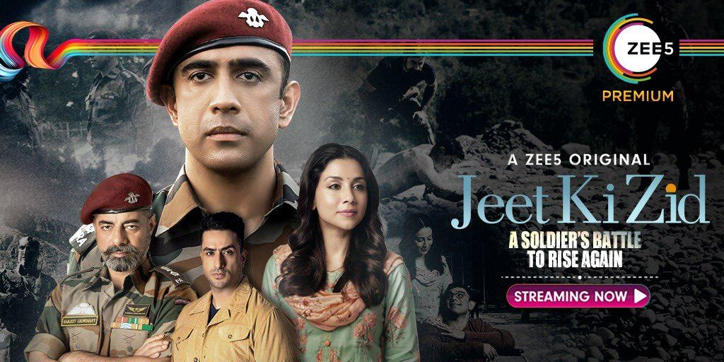 The true story of a living legend whose willpower redefined impossible. #JeetKiZid is Streaming Now    @theamitsadh #AmritaPuri @freshlimefilms @BayViewProjOffl @akash77 @JoyArunava @sushant_says @AlyGoni @vish2vish @ZEE5Premium