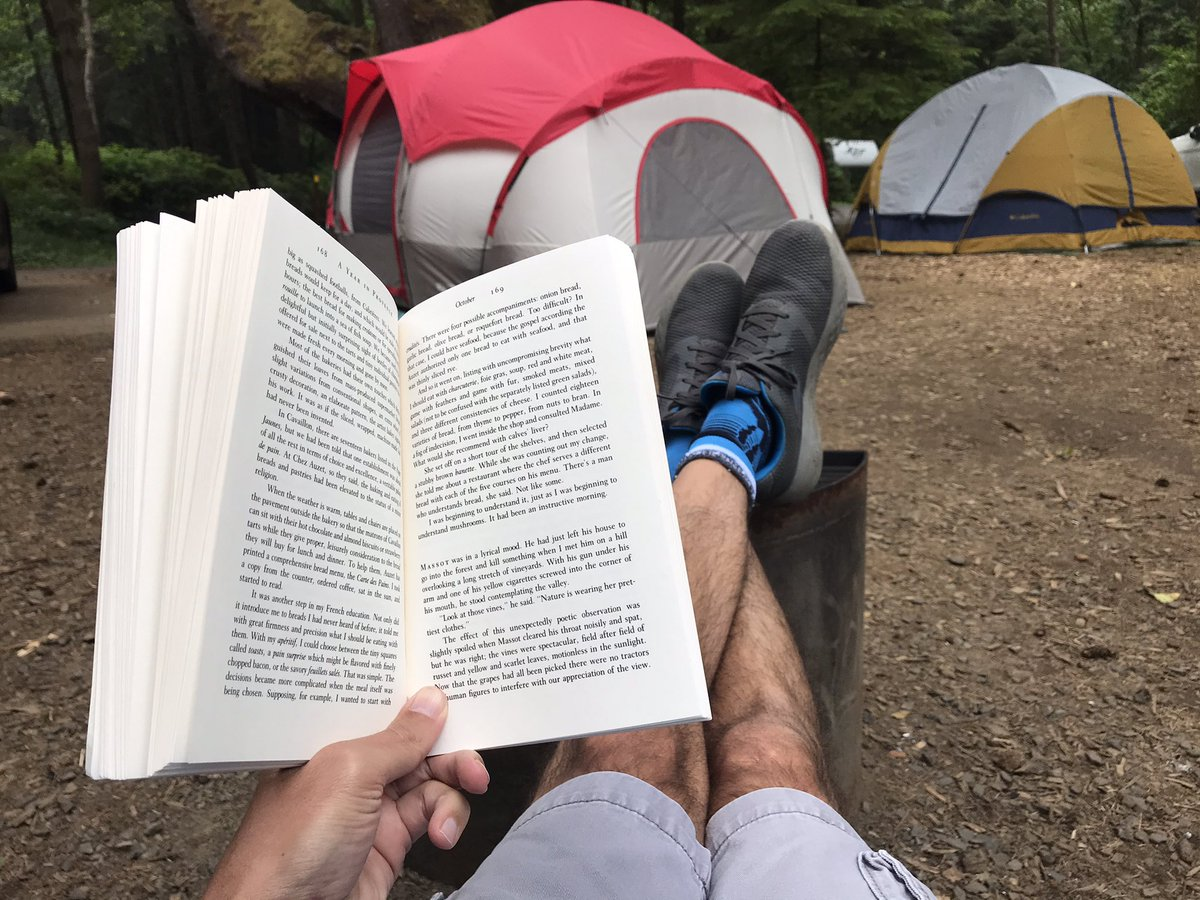 @travelexx There's something nice about a quiet campsite and a good book. #summerplans #camp #travel #goodbook #thursdaymotivation