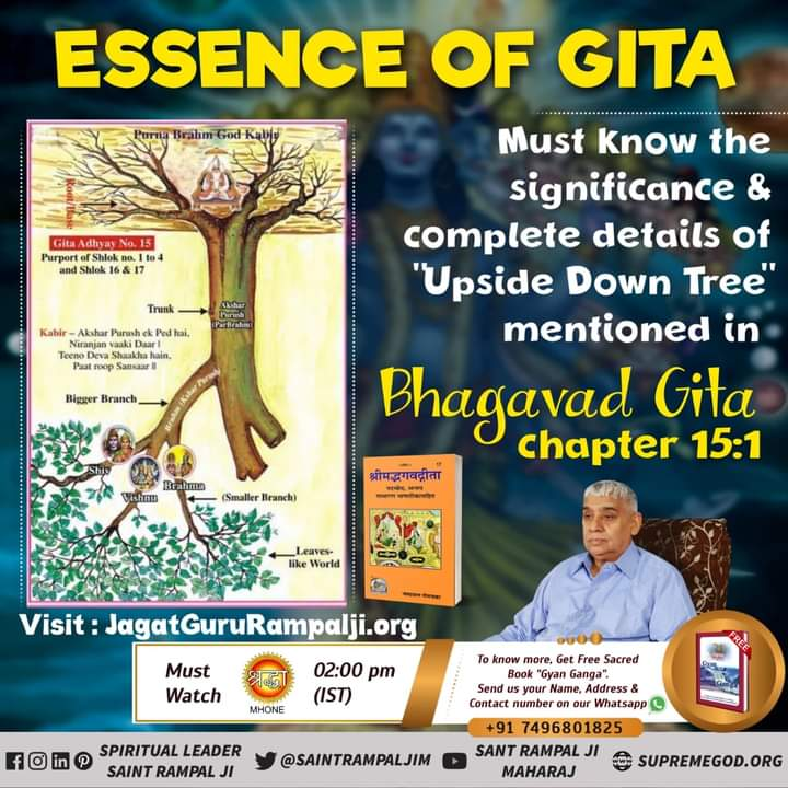 """#Must know #HiddenTruthOfGita  """"The Salvation Mentioned in Gita Chapter 15 Verse 4 is not obtained by the Worship of Brahm."""" #ThursdayMotivation #ThursdayThoughts 👉  For More Information Visit Satlok Ashram YouTube Channel Now!...."""