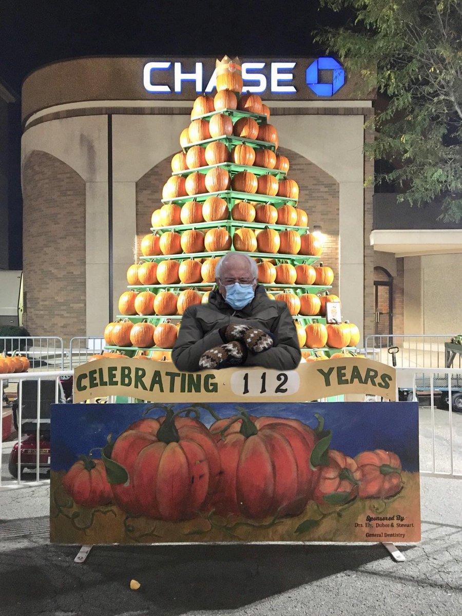 Somebody get this guy an orange coat! #Circleville #PumpkinShow #Berniememes