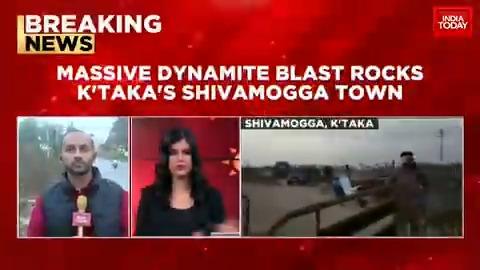 Massive dynamite blast rocks Karnataka's Shivamogga town. | @nolanentreeo, @Akshita_N #FirstUp #Karnataka #Shivamogga #ITVideo
