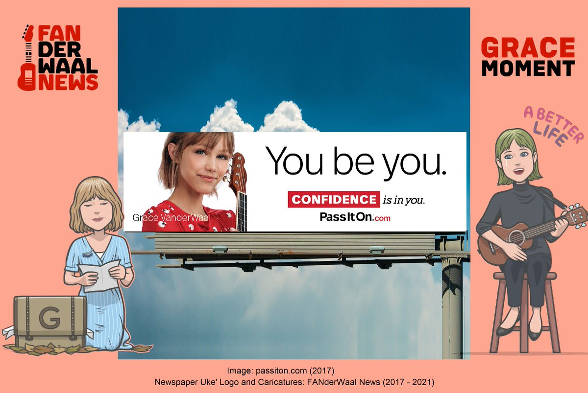 #FBF • 2017.12.12 @GraceVanderWaal joined 's promotion of a better life, literally becoming their poster girl for #Confidence!  Grace #YouBeYou 👉   @passiton_values speaking about Grace 👉  #ChooseKindness