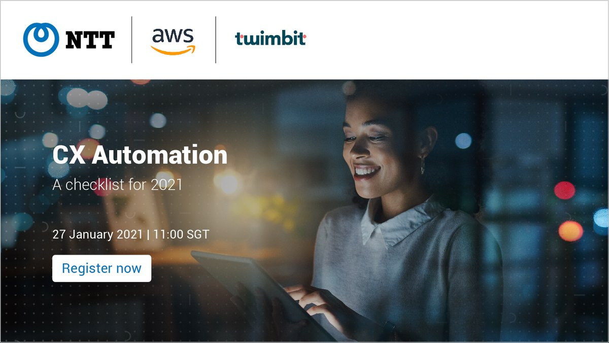 The new decade marks a change in #CX. Join us this Thursday for an exclusive session where our experts and industry leaders will be sharing their experience on #CX automation and transformation.  @TwimbitHQ @awscloud #NTTAPAC #NTTforGood #TechforGood