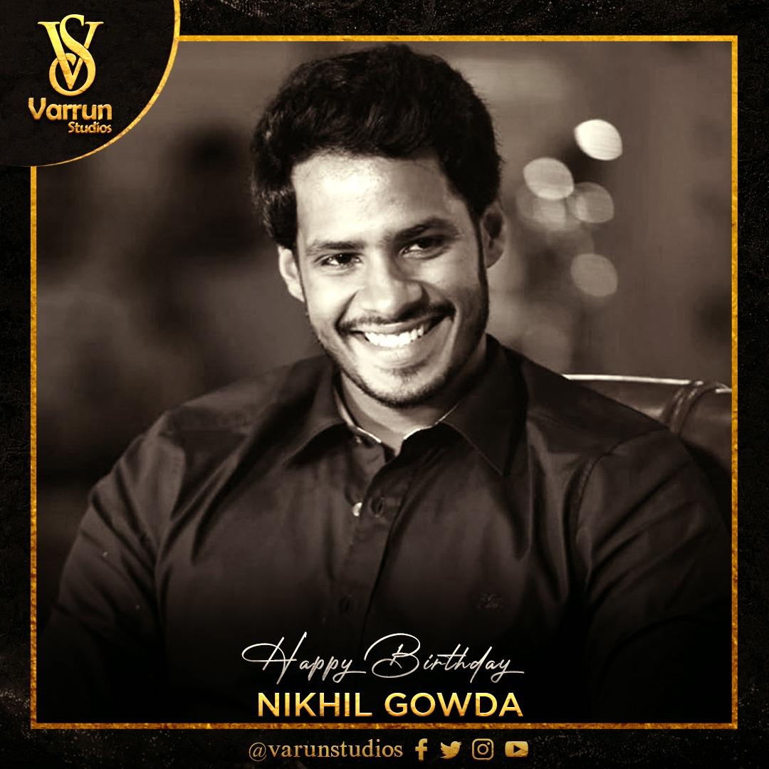 ಸ್ಯಾಂಡಲ್ ವುಡ್ನ ಭರವಸೆಯ ಯುವನಟ ಯುವರಾಜ ನಿಖಿಲ್ ಕುಮಾರಸ್ವಾಮಿ ಯವರಿಗೆ ಹುಟ್ಟುಹಬ್ಬದ ಶುಭಾಶಯಗಳು. #varrunstudios #Birthday #Yuvaraja #HBD #NikhilKumar #HBDNikhilKumar  @Nikhil_Kumar_k