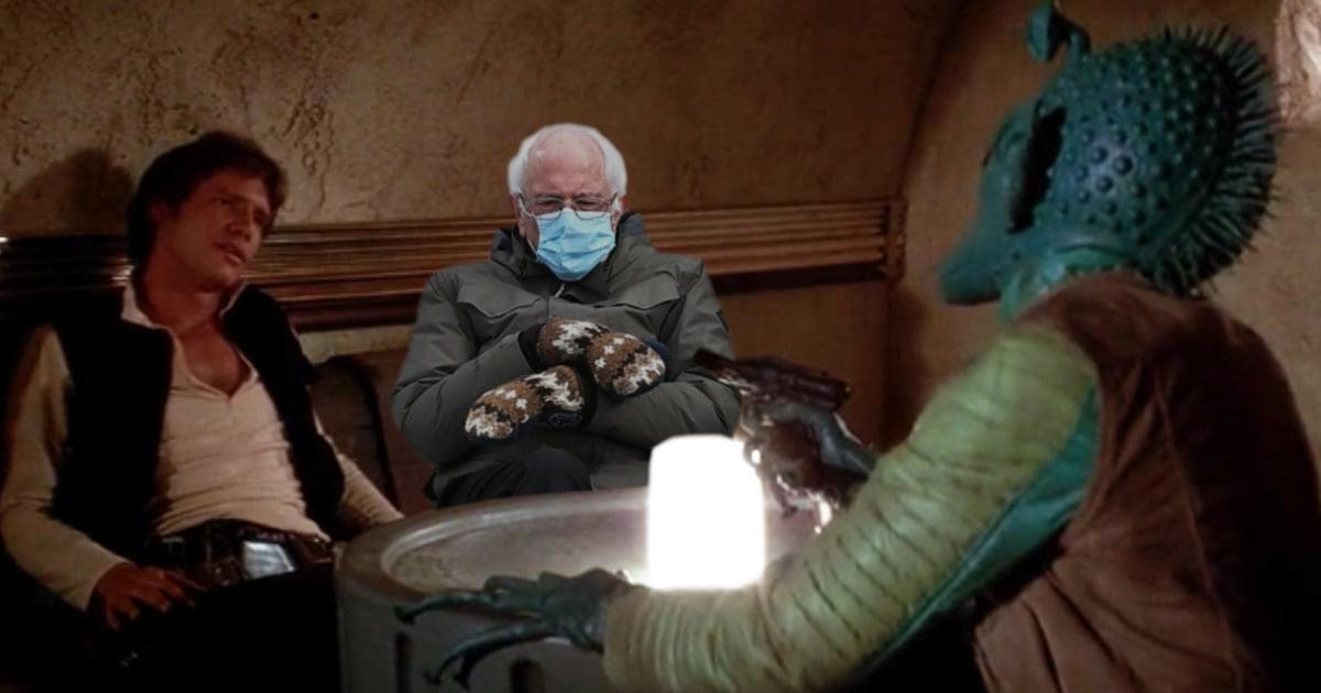 Little known Star Wars fact: BERNIE actually shot first. #starwars #Berniememes @starwars @HamillHimself #ANewHope