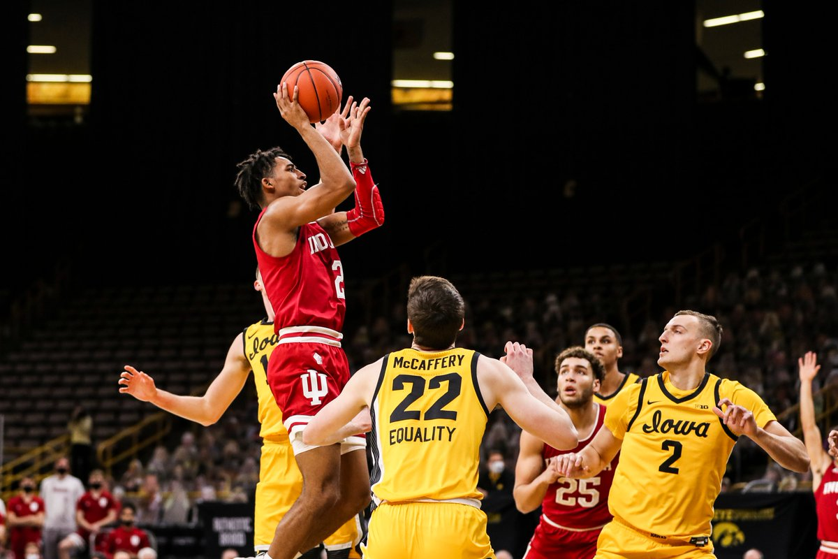 Indiana turns in a tremendous defensive performance, knocks off No. 4 Iowa on the road, 81-69. #iubb   Join the postgame conversation: