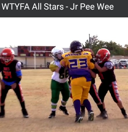 Blessed #TrippleTeamed #WTYF #AllStarGame #Greedy #23 #AbileneWylieBulldogs #10YearsOld #YouthFootball