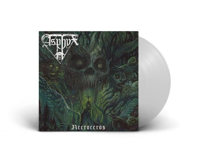 """Asphyx's 10th album, """"Necroceros,"""" is out Friday and we've got the exclusive white 180-gram LP for sale in our new shop (only 200 made):"""
