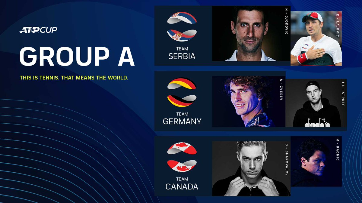 The world's best are ready 💪  This Is Tennis. That Means The World. #ATPCup