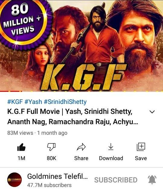 #KGFChapter1 Bhojpuri Version Hits 1M+ Likes 💥💥  ▶️  @TheNameIsYash @SrinidhiShetty7 @YashBossEdits @YashTrends @BeingNimmaYash @YashUpdates @prashanth_neel @OfficialYashFc @Yashbalaga @YashTeluguFc @TeamOnlyYash @YashFC @RSYHCF @bhuvangowda84 @BasrurRavi
