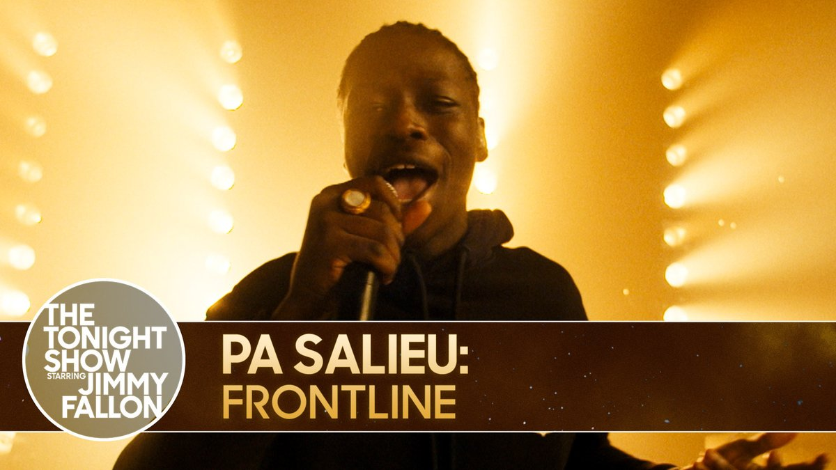 "🎶 #FallonTonight Tunes 🎶  @KING_SALIEU performs ""Frontline"" from his mixtape ""Send Them To Coventry"" 💥  Watch the full performance ▶️"