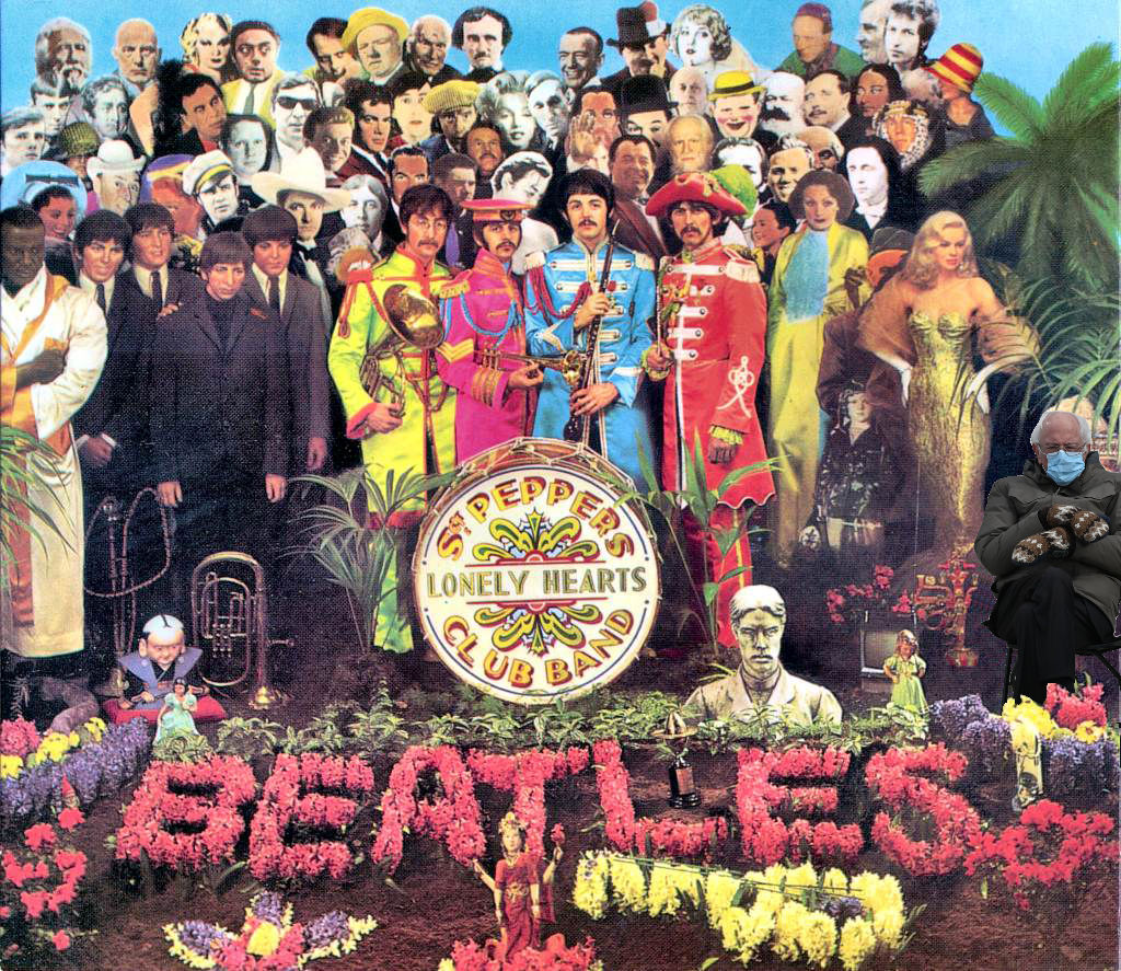 So let me introduce to you, the act you've known for all these years. #SgtPepper #Beatles #Berniememes #BernieSandersmemes