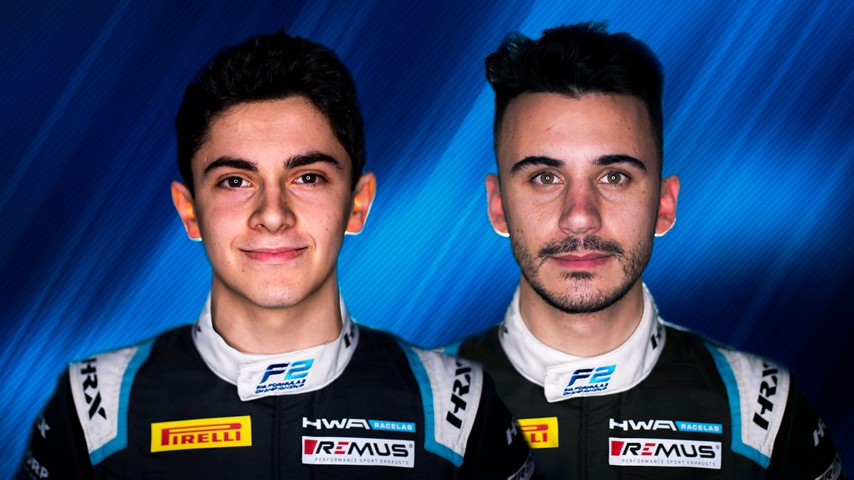 📣 DOUBLE ANNOUNCEMENT!   @hwaag_official unveil their 2021 line-up with @nannini_matteo and @DeleddaAlessio teaming up for the season 🙌  #F2 #RoadToF1