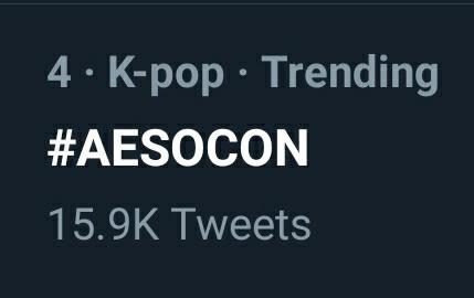 #AESOCON IS TRENDING SGDHDKF