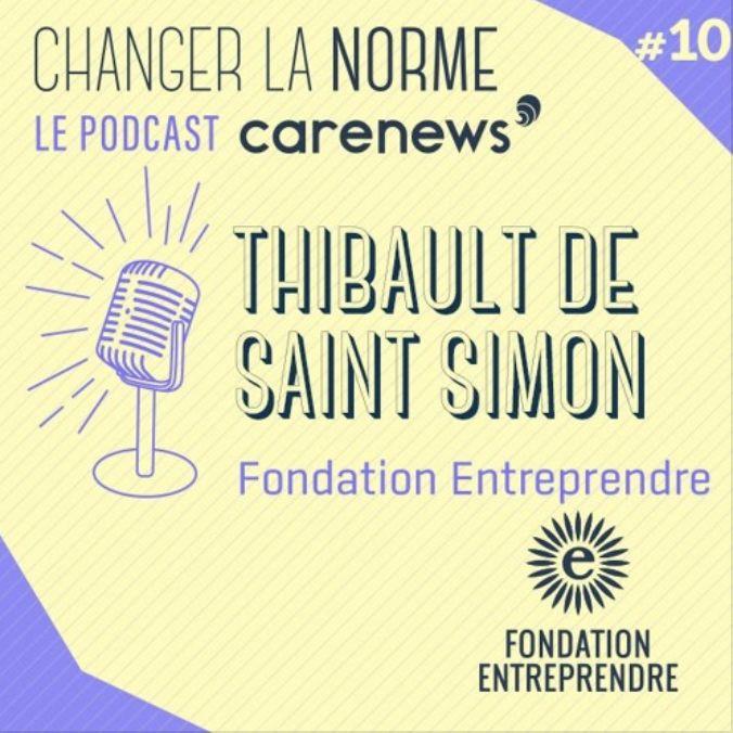 Thibault de Saint Simon, DG de la @FEntreprendre intervient dans le #podcast de #Carenews, #ChangerLaNorme, pour parler du programme [RE]AGIR, des valeurs de la Fondation et du rôle de l'entrepreneuriat pour résoudre les défis de demain :