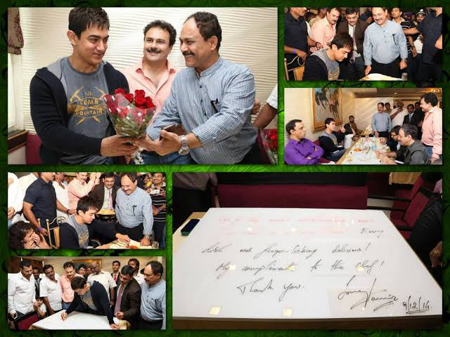 Aamir Khan pics from his Paradise hotel in Hyderabad.