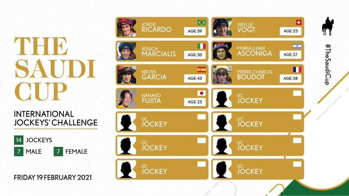 🚨 TWO NEW JOCKEYS CONFIRMED! 🚨  Now added to the IJC roster:  🇫🇷 Pierre-Charles Boudot 🇯🇵 Nanako Fujita  Fri 19 Feb   International Jockeys' Challenge   #TheSaudiCup