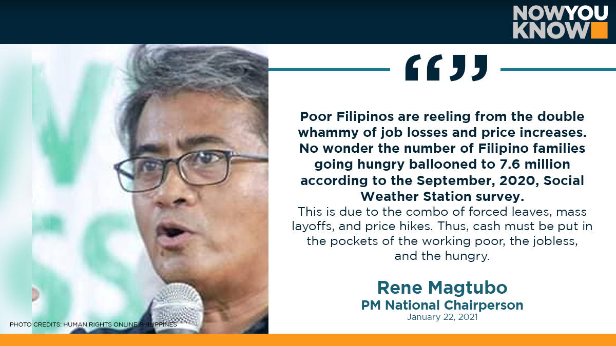 Labor group Partido Manggagawa (PM) on Friday called for wage hikes and a new round of cash assistance. READ: bit.ly/3sGlfcG 📰 Manila Bulletin