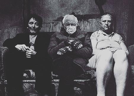 be still. Bernie is the cling wrap killer #Bernie #berniemittens #BernieSanders #Berniememes #Badboybubby #badboybernie