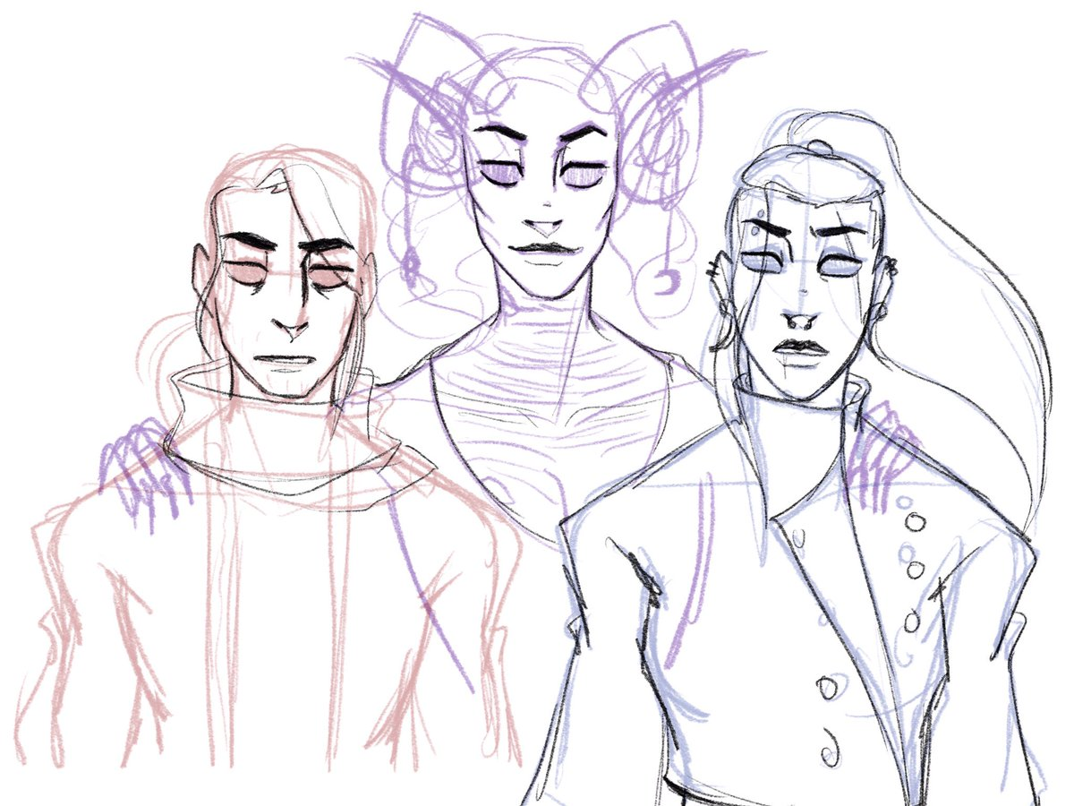 Wip but..... oof....... they're at least on the road to understanding Lucien better, right? These eyes of mine #criticalrolespoilers #CriticalRole