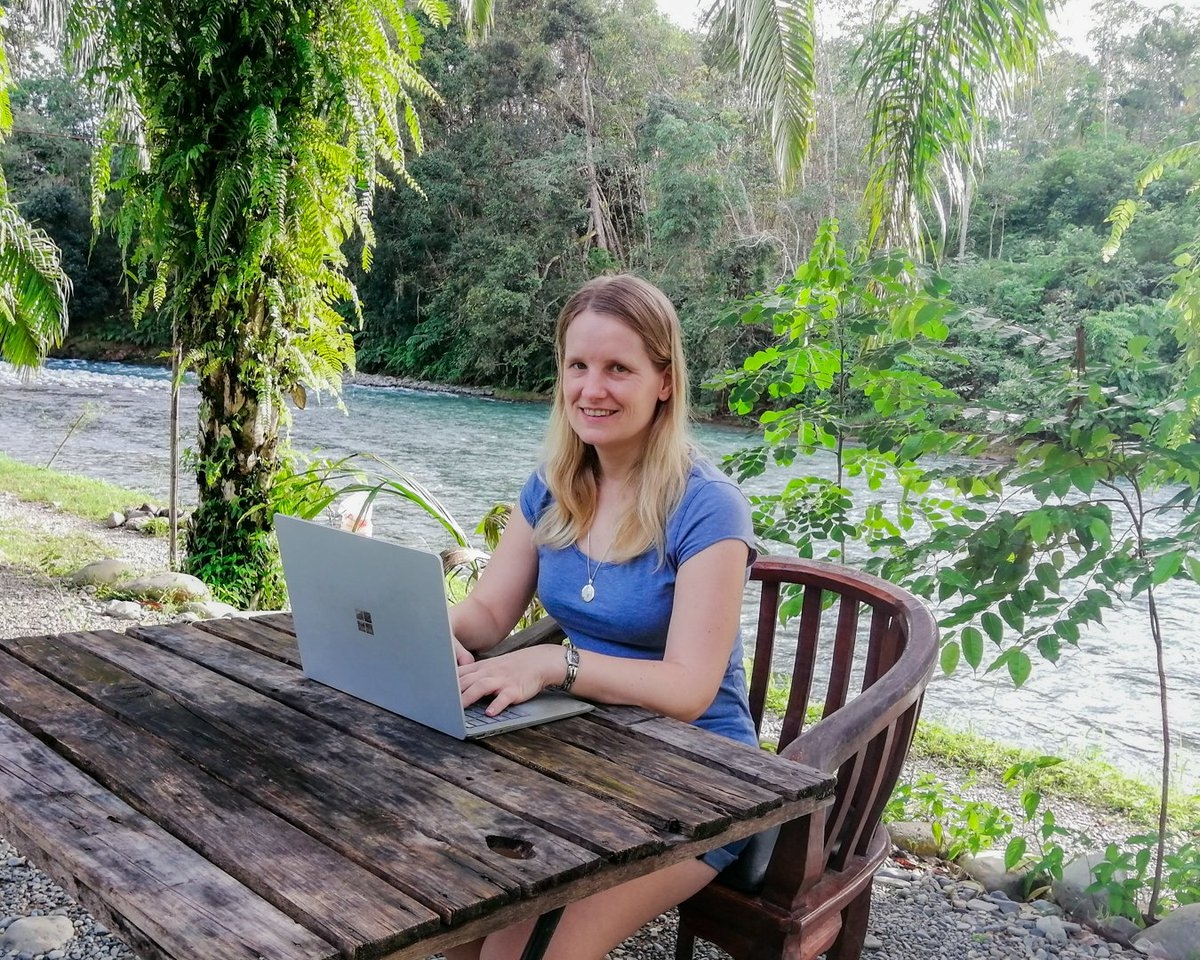 You think working in the jungle at the end of the world is impossible? 🌏 Our growth manager is working from Indonesia! From where would you dream to work? 😌 #futureofwork #remotework #freelancing #lifestyle #WorkFromHome #digitalnomade