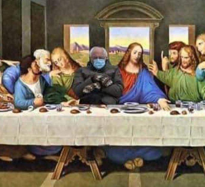 #Bernie and #Jesus listening to #Verzuz