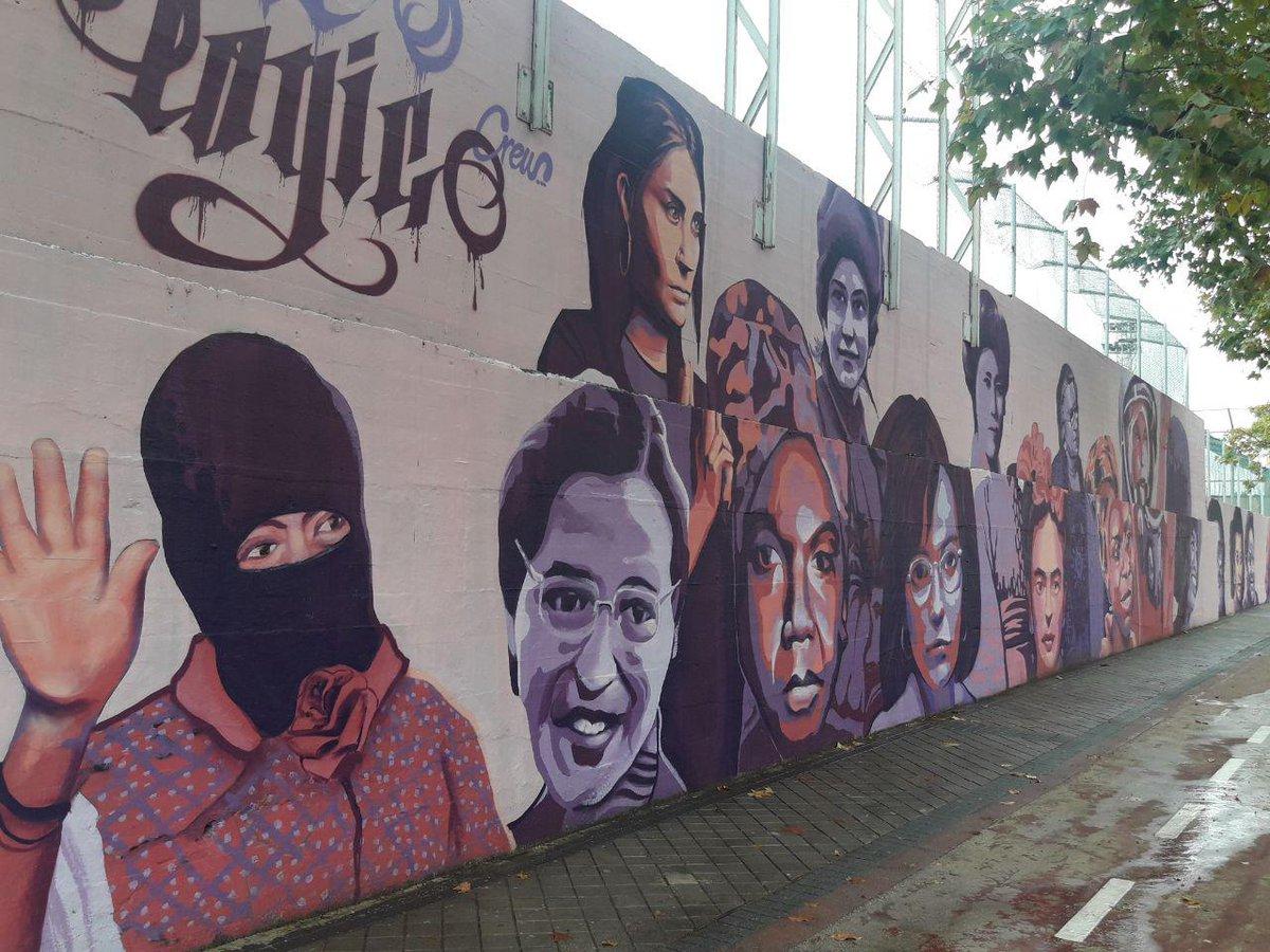 Mural feminista en Madrid que PP, Cs y Vox quieren borrar.