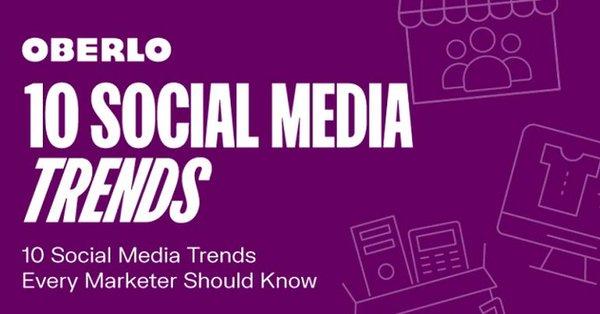 #InfographieDuJour 10 tendances #SocialMedia à connaître pour bien démarrer 2021 selon @OberloApp. Quel est votre Top 3 ? 🤔 Pour moi 1) l'authenticité, 2) les stories et 3) les plateformes de niche. https://t.co/MrQcDRqQZP via @socialmedia2day https://t.co/GYjIFiFHRO