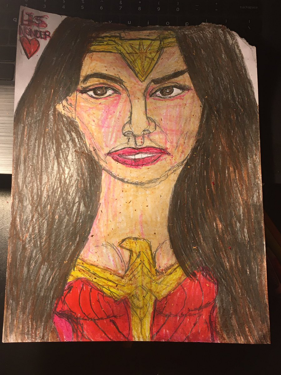 My sketch of my friend @LisWonder1 Aka @GalGadot 's twin  in honor of her Birthday🎂🥳Thanks for your inspiration, kindness & support👸🏻You're a true #wonderwoman 💫You & your cosplays are Wonderful❤️@WonderWomanFilm #ww84  #GalGadot  @snydercut #usunited  #JusticeLeagueSnyderCut