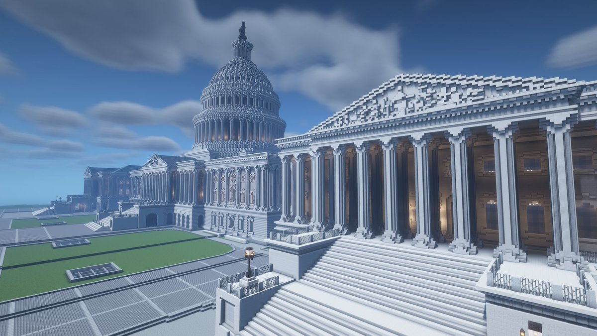 I made the MOST DETAILED replica of the United States Capitol Building in @Minecraft Watch the video now! ➡️  ⬅️ #minecraft #minecraftart #Minecraftbuilds #minecraftbuild #CapitolBuilding #CapitolHill