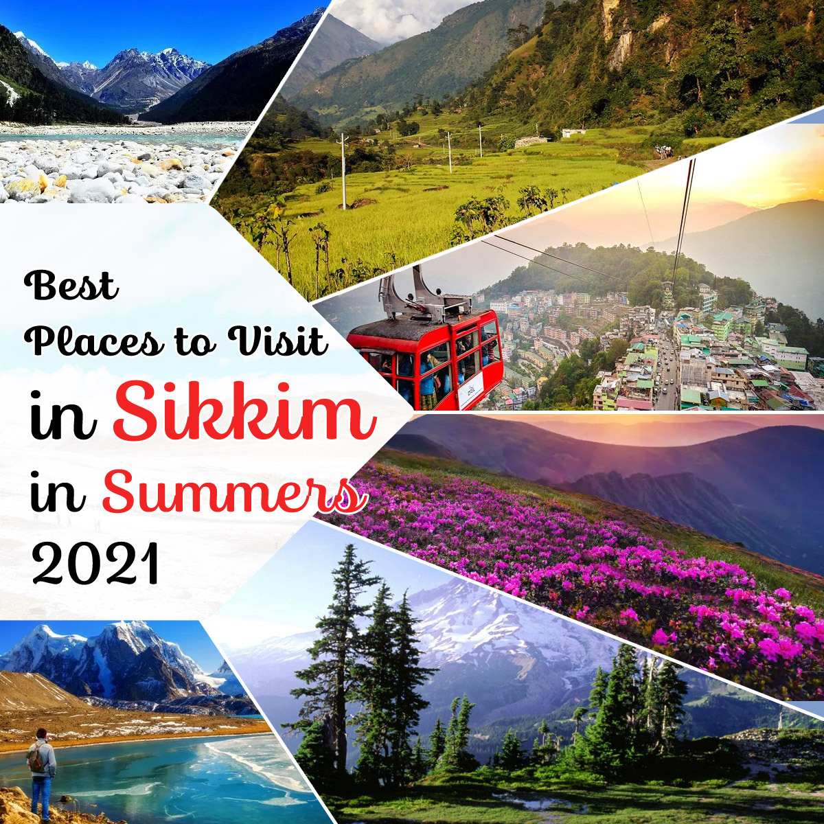 Either a day at the lush green valley or taking a stroll through pristine lakes, Sikkim in summers is flawless.  Know more->   #sikkimtourism #sikkimtrip #India #travel2021 #Places #placestovisit #Sikkimplaces #places_wow #placestogo #PlacesofIndia #travel