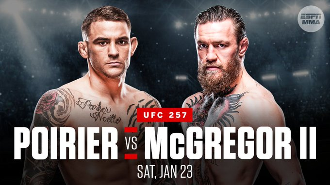 #UFC257 #UFC #fightnight #ConorMcGregor #Poirier https://t.co/M2WstyZohW