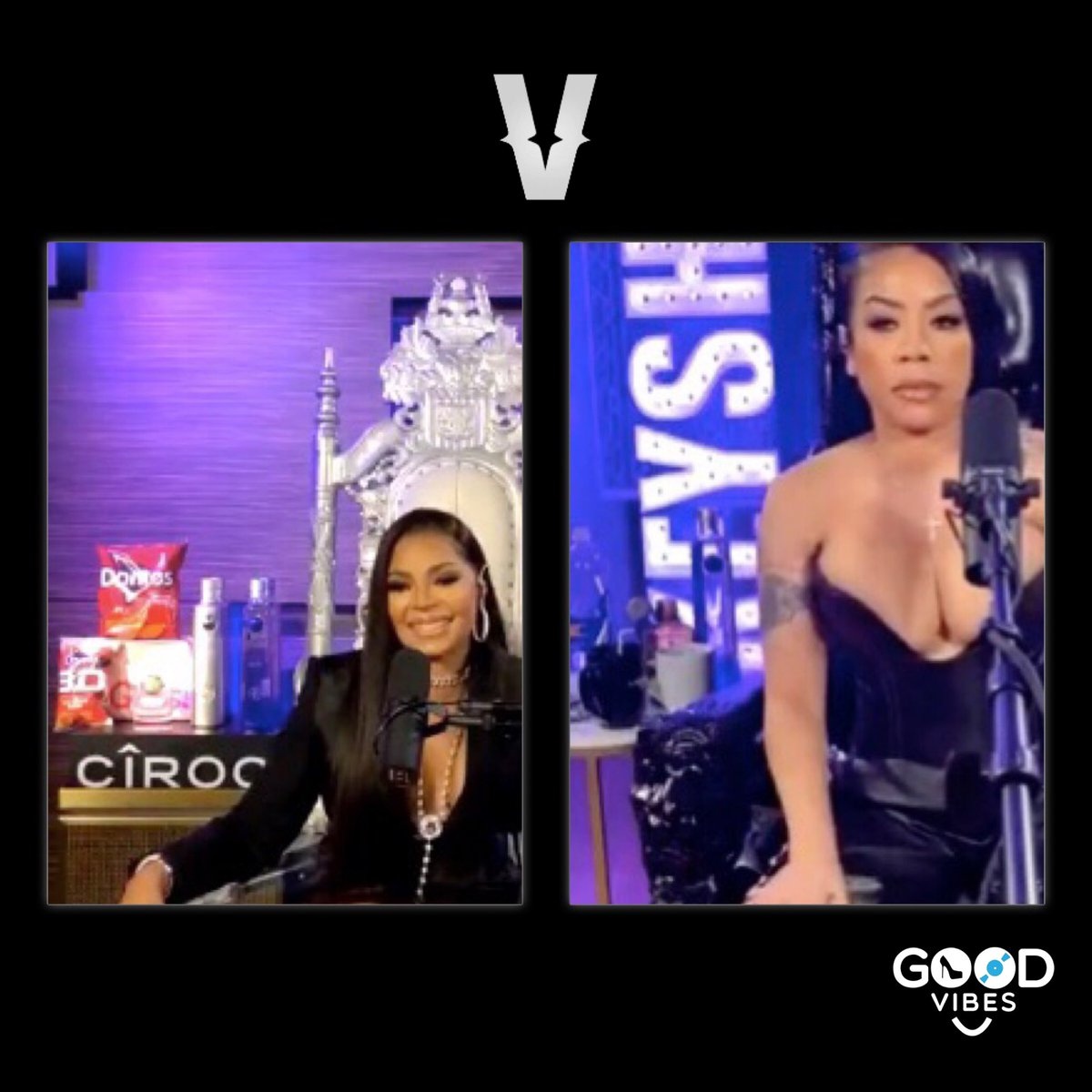 These ladies looked absolutely gorgeous tonight! What were some of your favorite moments? _______ • • • • • • •  #GVFM #GVibesFashionMusic #Ashanti #KeyshiaCole #Live #Timbaland #SwizzBeatz #Queens  #RnB #Soul #GreatestHits #Verzuz #VerzuzTV #MUSIC #entertainment