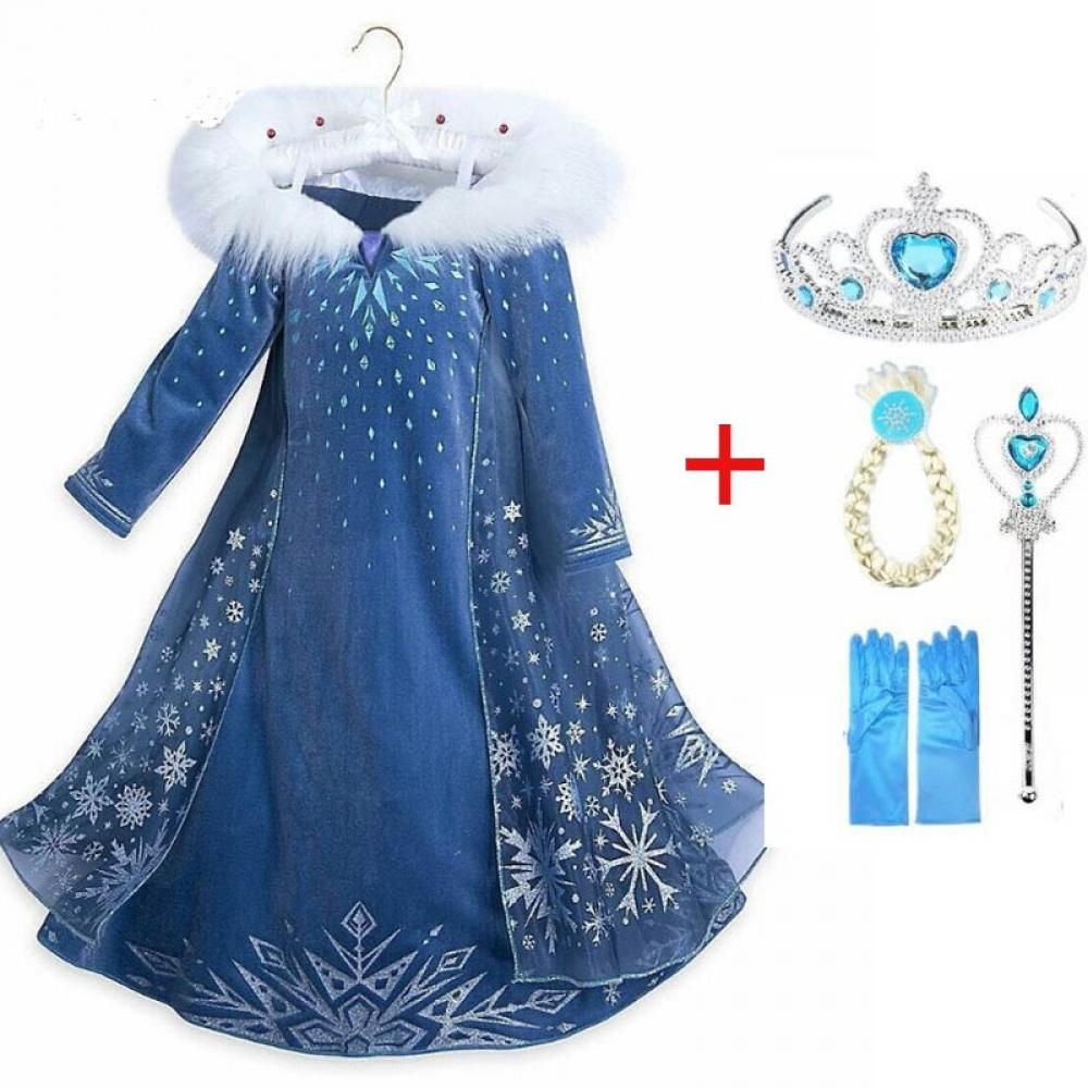 New style Elsa dress Girls Halloween costume kids cosplay party dresses princess anna congelados vestidos children clothing   #fashion|#sport|#tech|#lifestyle
