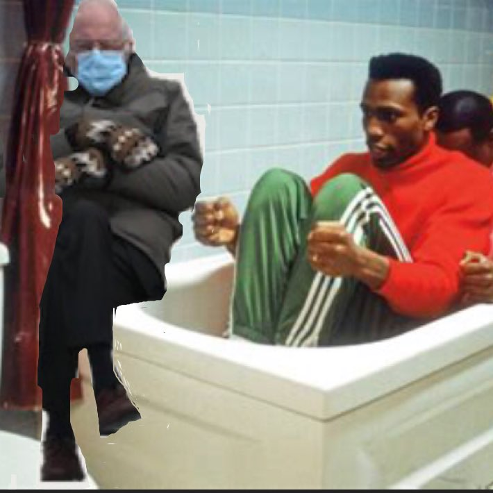 Spending all your free time trying to be the first Jamaican Bobsled Team #Berniememes