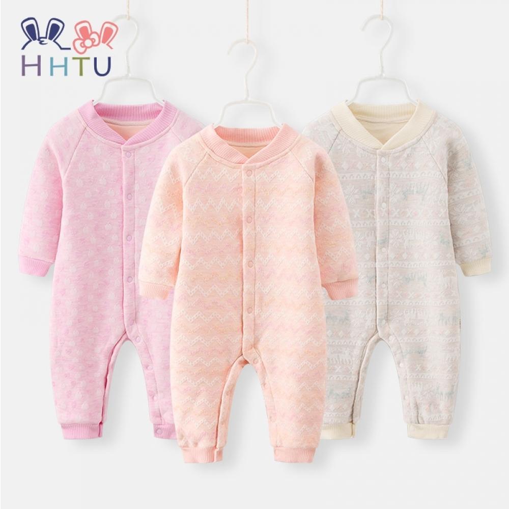 HHTU Baby Rompers Plus Fleece Jacket Thicken Warm Jumpsuits Winter Spring Baby Boys Girls Clothing Newborn Infant Pajamas  #staysafe #practicesafetyguidlines #fashion|#sport|#tech|#lifestyle