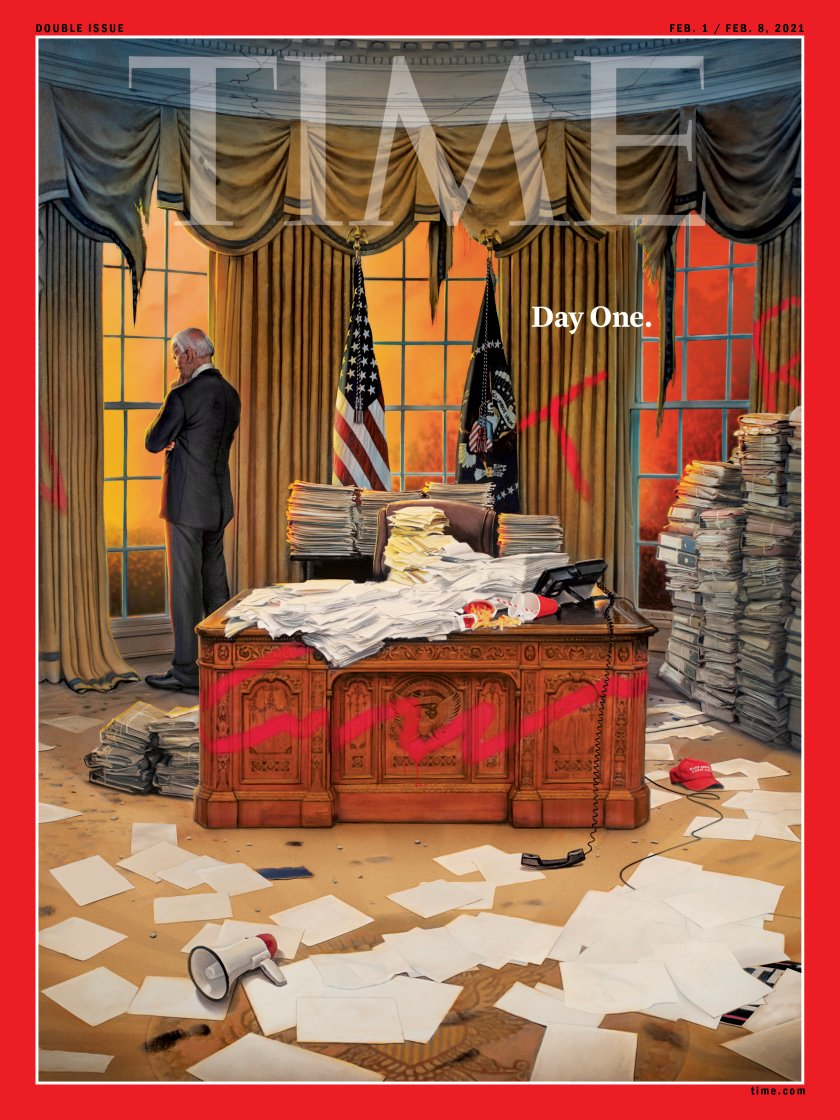 Latest @TIME cover. Stark depiction.