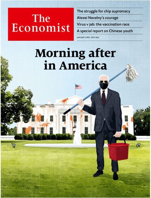 غلاف مجلة #TheEconomist #بايدن #إعلام