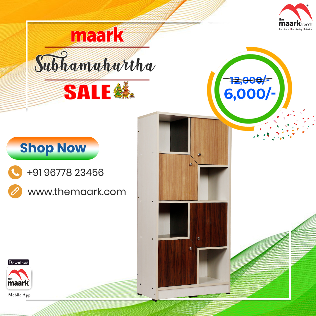 Make your family occasion more special with Maark Subhamuhurtha Sale. Bookshelf Save upto 50% Enhance your lifestyle with The Maark. Visit : http//: to choose among 2000+ range.. or call : 9677823456 #Maark #bookshelf#Subhamurtha Sale #Pongal