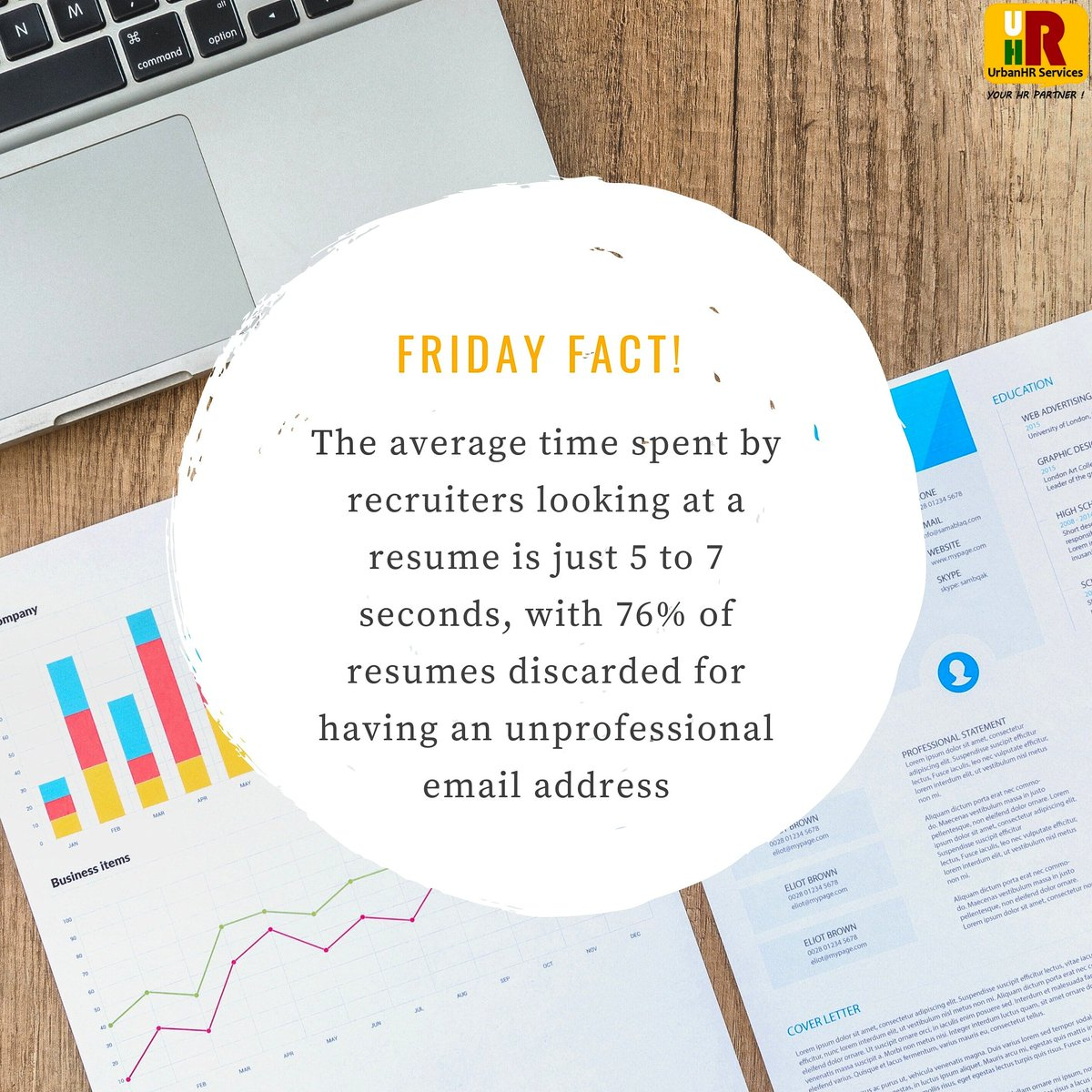 Resumes are your First impression.  #friday #facts #UrbanHR #service #humanresourcesmanagement #instaday #delhi #postoftheday #resumes #employees #hrconsulting #instagood #instalife #follow #like #share
