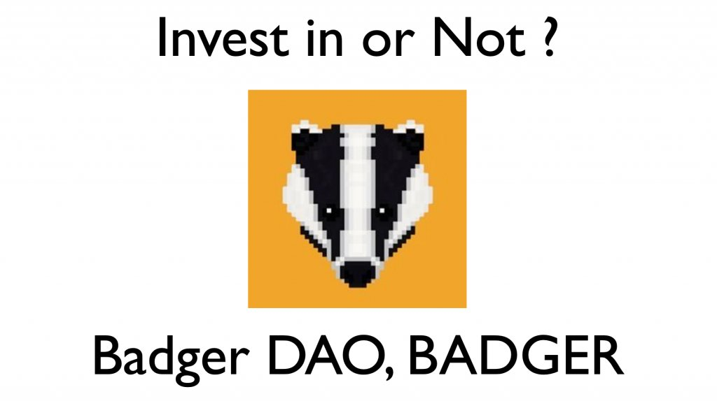 Badger DAO(バジャー・ダオ)のトークンBADGERの投資分析・評価について - Life For Earth -  - #BADGER #YFI #REN #FARM