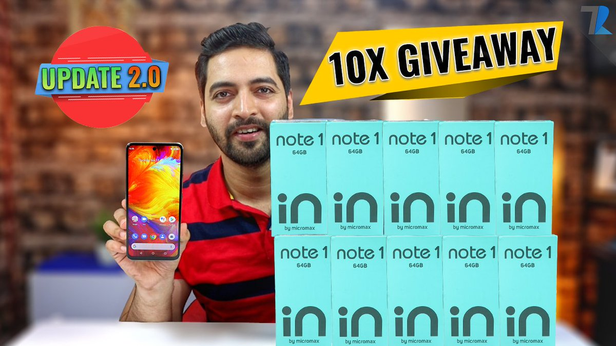 Replying to @AmreliaRuhez: Micromax IN Note1 After Update - A New Change | 10X GIVEAWAY😍