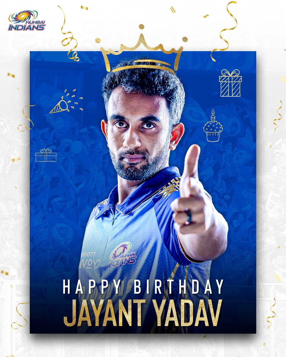 To more wickets and runs in Blue & Gold 🌟  Happy birthday, Jayant 🎂💙  #OneFamily #MumbaiIndians