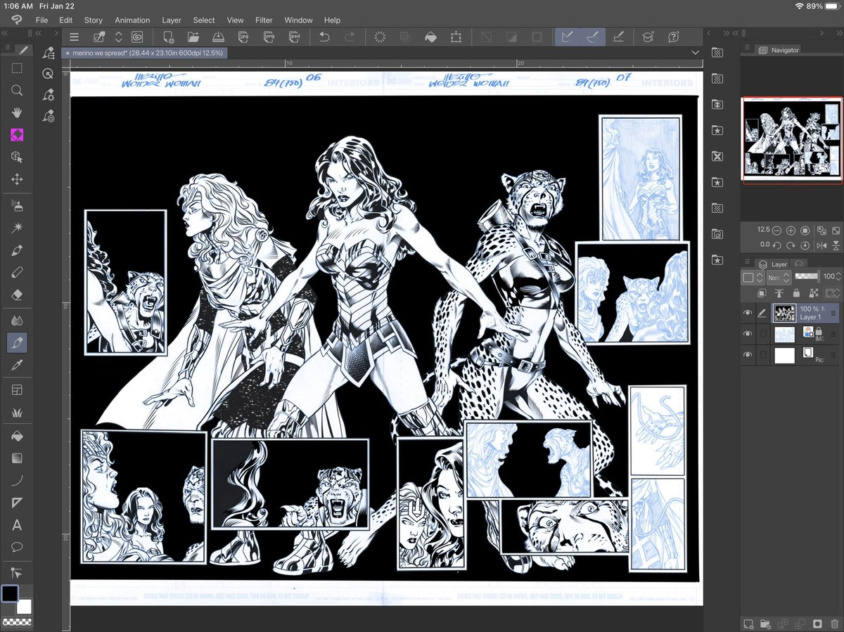 .....and the whole spread by @JssMerino with my inks #WonderWoman